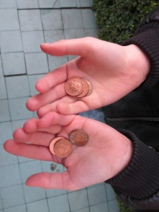 My son Brendan finds pennies in the street every day. He calls it ABUNDANCE HUNTING!